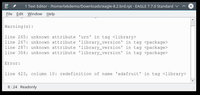 OSH Park Docs ~ Eagle ~ Exporting Eagle 8.1.1 Compatible files