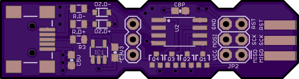 Board with tented vias