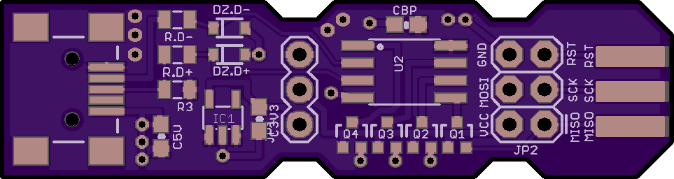 Board without tented vias